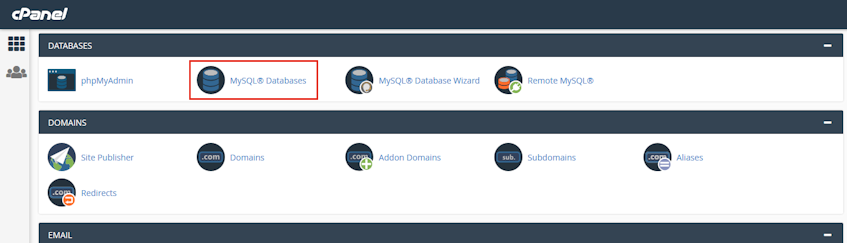 cPanel MySQL Databases Location