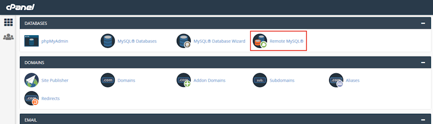cPanel Remote MySQL Location