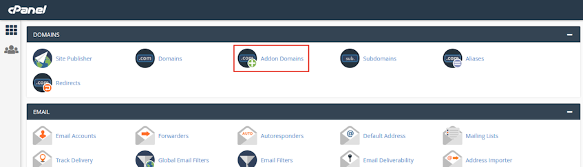 cPanel Addon Domains Location