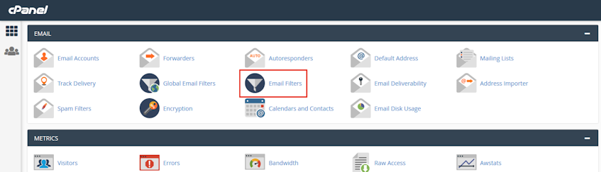 cPanel Email Filters Location