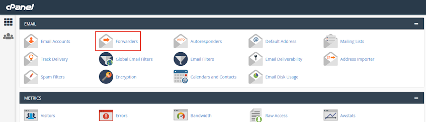 cPanel Forwarders Location