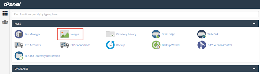 cPanel Images Location