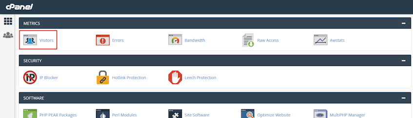 cPanel Visitors Location